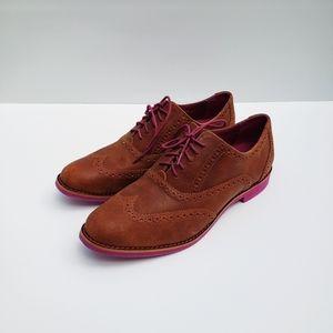 Cole Haan Leather Alisa Wingtip Oxford 8.5